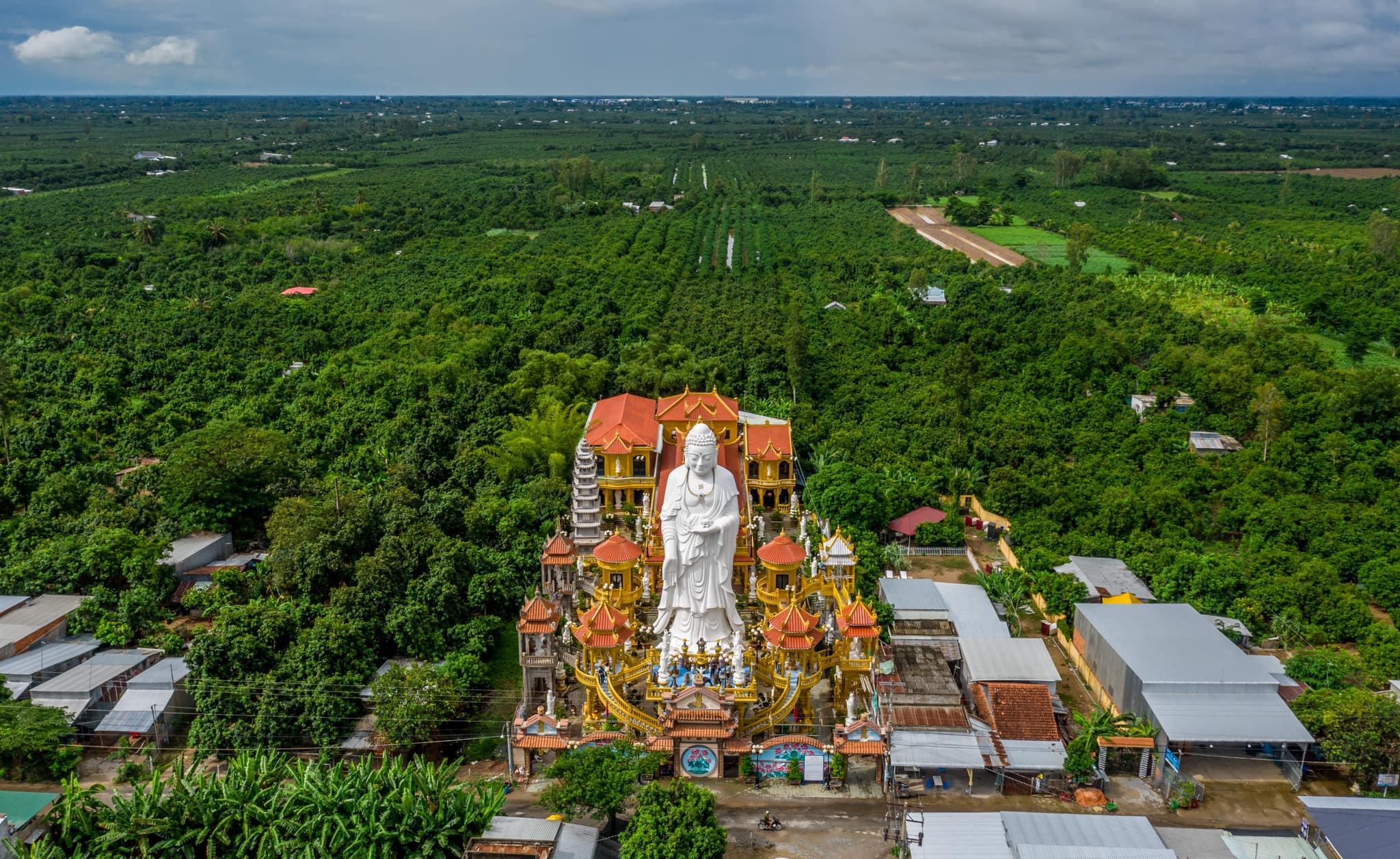 Khung cảnh bạt ngàn sắc xanh của Cù Lao Giêng