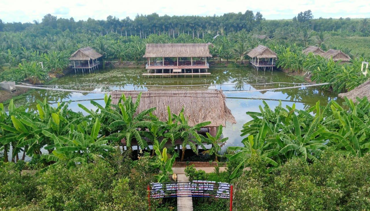 Không khí xanh mát tại Khu sinh thái Hương Tràm